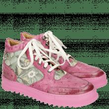 Sneakers Maxima 1  Ostrich Dark Pink Brocade Verde