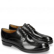 Derby Schuhe Amelie 3 Black Lining Rich Tan