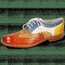 Oxford Schuhe Amelie 70 Vegas Orange Tan Wind Yellow Perfo White
