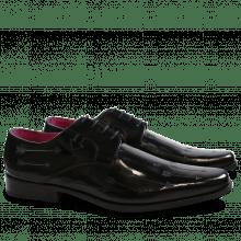 Derby Schuhe Mark 5 Brush Black Lasercut Arrow New HRS