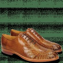 Oxford Schuhe Kane 21 Tan Embrodery Gold