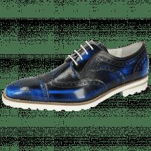 Derby Schuhe Clark 45 Brush Off Perfo Blue