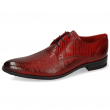 Derby Schuhe Toni 1 Lizzard Ruby