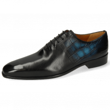 Oxford Schuhe Lance 61 Spector Big Croco Patina Black Bluette