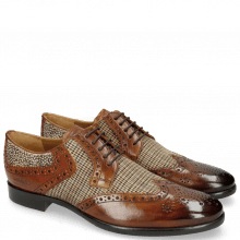 Derby Schuhe Clint 19 Wood Textile English Hairon Halftone
