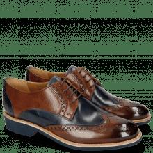 Derby Schuhe Amelie 3 Wood Navy