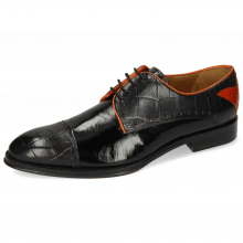 Derby Schuhe Kane 30  Turtle Black Soft Patent Orange