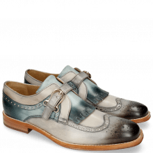 Monk Schuhe Phil 28 Grigio Morning Grey Glicine