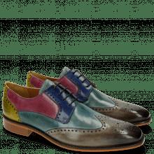 Derby Schuhe Jeff 14 Tan Cedro Arancio Bluette Rose