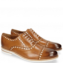 Oxford Schuhe Scott 15  Tan Underlay Patent White