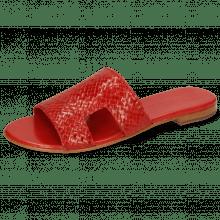Pantoletten Hanna 74 Woven Red Socks Foam