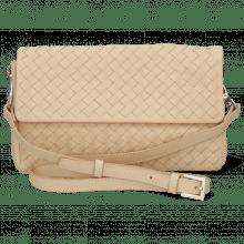 Handtaschen Kimberly 5 Woven Nappa Off White