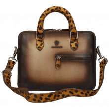 Handtaschen Vancouver Taupe Shade Dark Brown Hairon Jaguar
