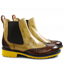 Stiefeletten Amelie 50 Cedro Coffee Backstrap Orange Elastic Dark Brown Rook D Yellow