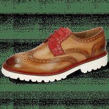 Derby Schuhe Matthew 33 Sabbia Fiesta Laces Red