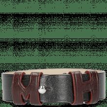 Armbänder Archie 1 Black Loops Burgundy Studs Nickle