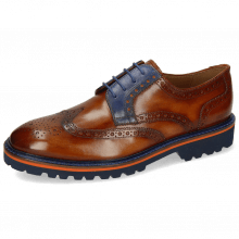 Derby Schuhe Matthew 33 Wood Electric Blue