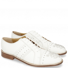 Derby Schuhe Sally 100 Milled White