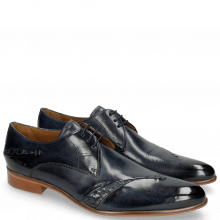Derby Schuhe Toni 40 Woven Navy Lining Rich Tan