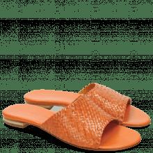Pantoletten Hanna 5 Woven Tangerine
