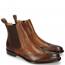 Stiefeletten Erol 32 Venice Big Croco Dark Brown Wood