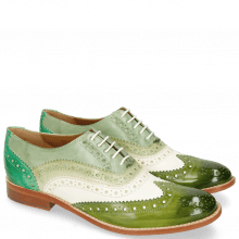 Oxford Schuhe Amelie 10 Vegas Ultra Green White Mint Algae Electric Green
