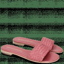 Pantoletten Hanna 26 Woven Hot Pink