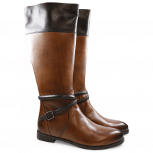 Stiefel Lucy 10   Brilliant Tan Dark Brown HRS