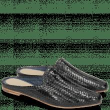 Pantoletten Joolie 17 Woven Haring Bone Navy