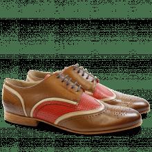 Derby Schuhe Sally 15 Salerno Dark Tan Cappu Salerno Perfo Coral LS