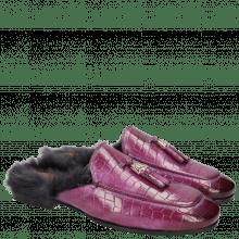 Pantoletten Clive 5 Crock Eggplant Accessory Fur Lining