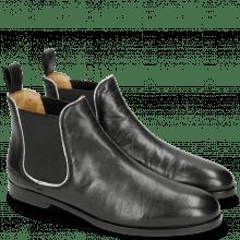 Stiefeletten Susan 10 Salerno Black Binding Metalic