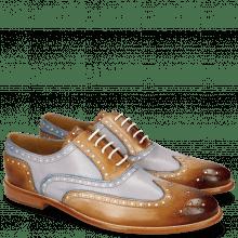 Oxford Schuhe Scott 12 Tan Washed Electric Blue