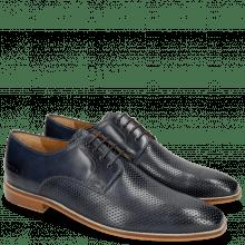 Derby Schuhe Alex 1 Venice Perfo Navy