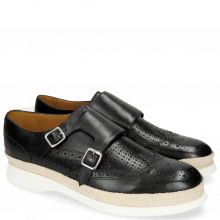 Monk Schuhe Elia 2 Perfo Square Black