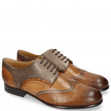 Derby Schuhe Sally 15 Venice Crock Wood Fermont Coppa Sand