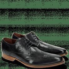 Derby Schuhe Oskar 7 Navy Laces Navy