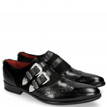 Monk Schuhe Toni 28 Black Hair On Black
