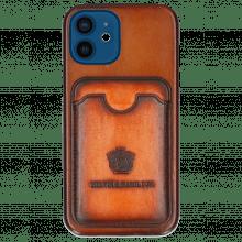 iPhone Hülle Twelve Vegas Tan Wallet Orange
