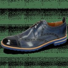 Derby Schuhe Eddy 48 Navy Moroccan Blue Wind