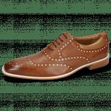 Oxford Schuhe Clark 35 Venice Pavia Nappa Tan Nappa Patent White