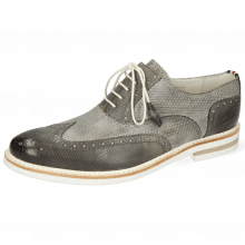 Oxford Schuhe Scott 12 Dice Grigio Vegas Perfo Oxygen