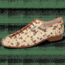 Oxford Schuhe Sofia 6  Snake Sand Binding Lycra