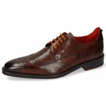 Derby Schuhe Dave 2 Mid Brown Laces Orange