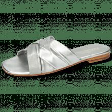 Pantoletten Elodie 46 Nappa Silver LS Flex