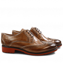 Derby Schuhe Amelie 48 Cappu Gold Finish Binding Bronze