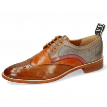 Derby Schuhe Betty 16 Pavia Tan Arancio Oxygen Lilac Satellite