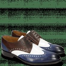 Derby Schuhe Kane 5 Saphir Mogano Soft Patent White