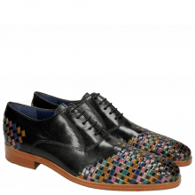 Oxford Schuhe Lewis 17 Classic Black Interlaced Multi