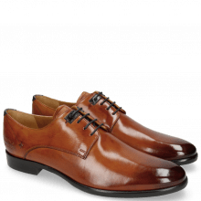 Derby Schuhe Clint 1 Tan Deco Pieces Marine